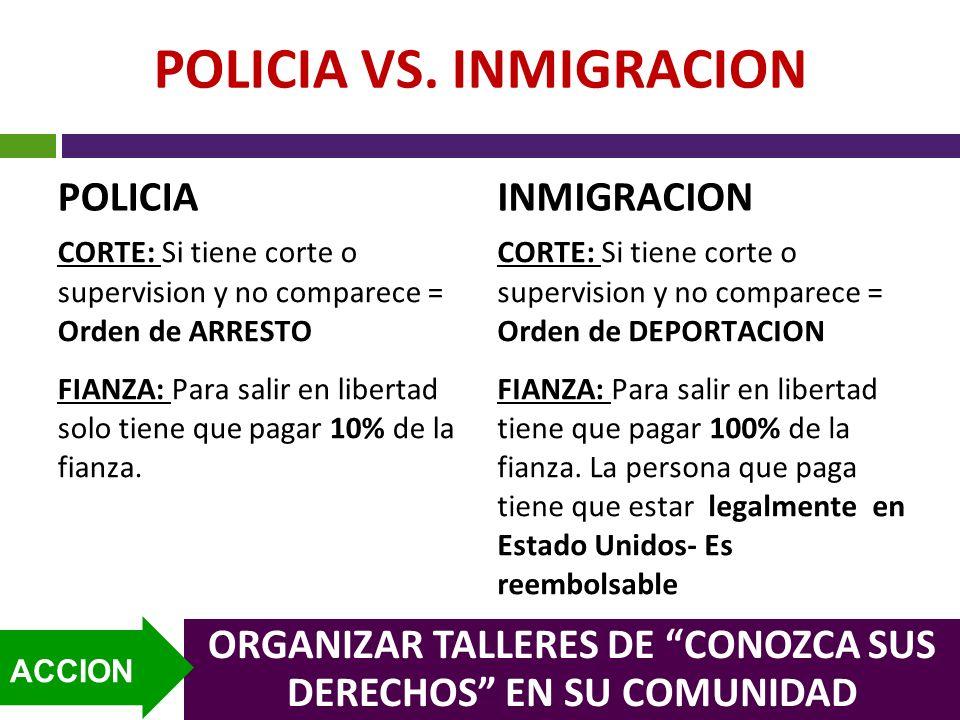 POLICIA VS. INMIGRACION