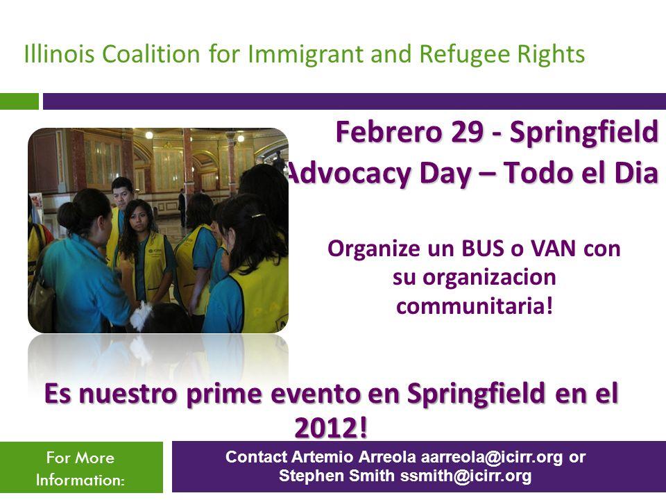 Febrero 29 - Springfield Advocacy Day – Todo el Dia