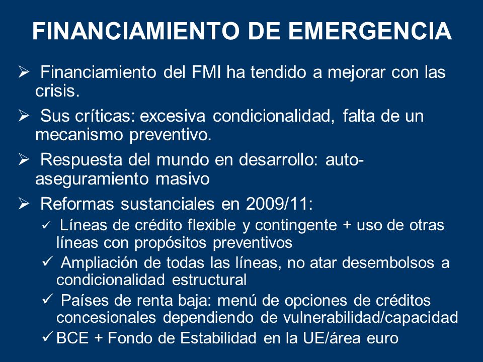 FINANCIAMIENTO DE EMERGENCIA