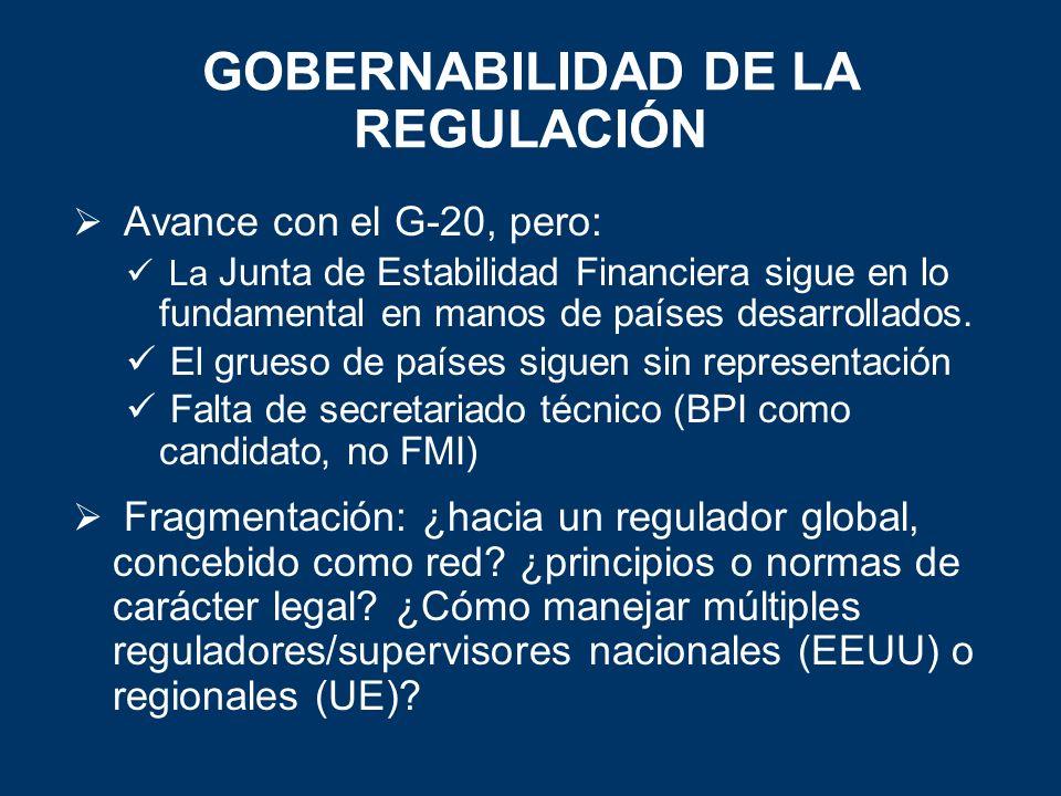 GOBERNABILIDAD DE LA REGULACIÓN