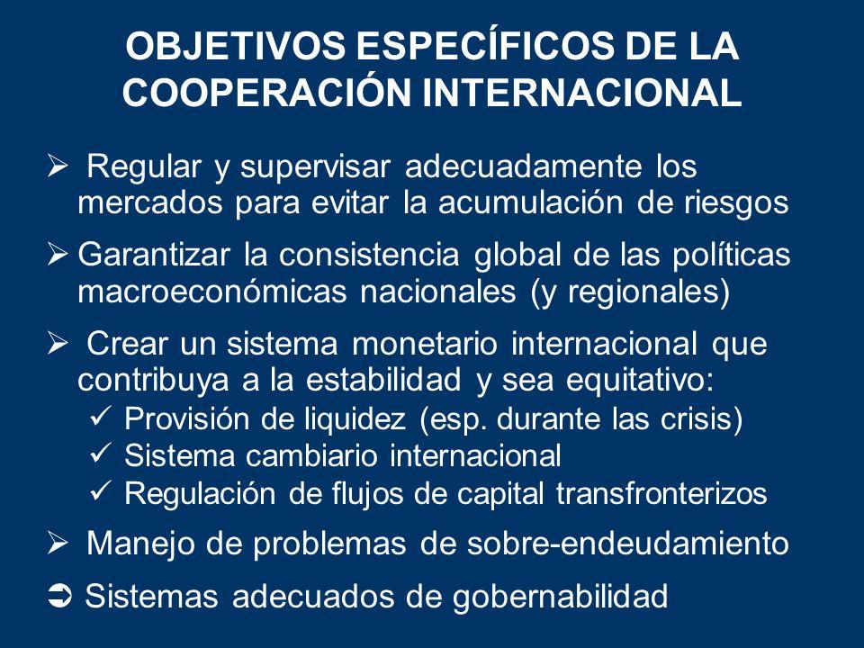 OBJETIVOS ESPECÍFICOS DE LA COOPERACIÓN INTERNACIONAL