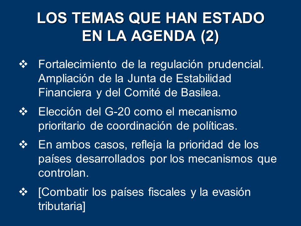 LOS TEMAS QUE HAN ESTADO EN LA AGENDA (2)