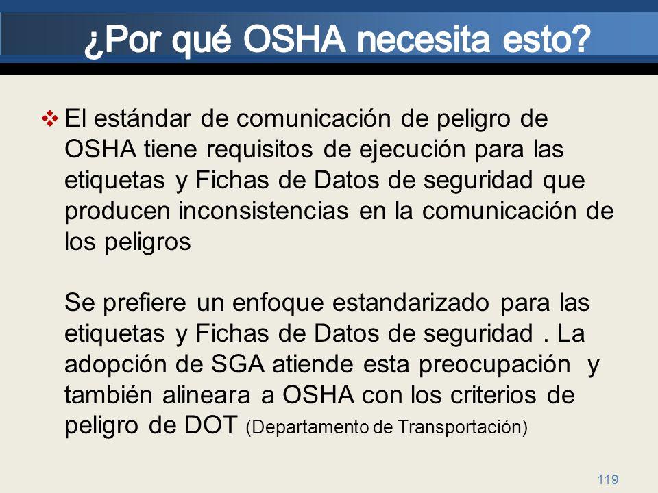 ¿Por qué OSHA necesita esto