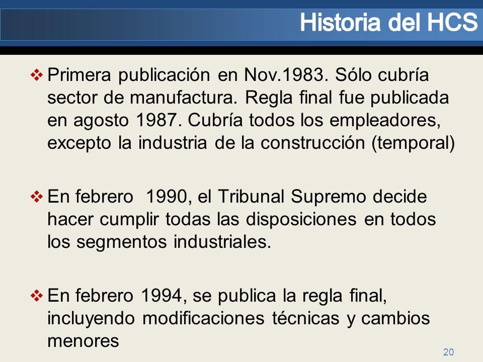 Historia del HCS