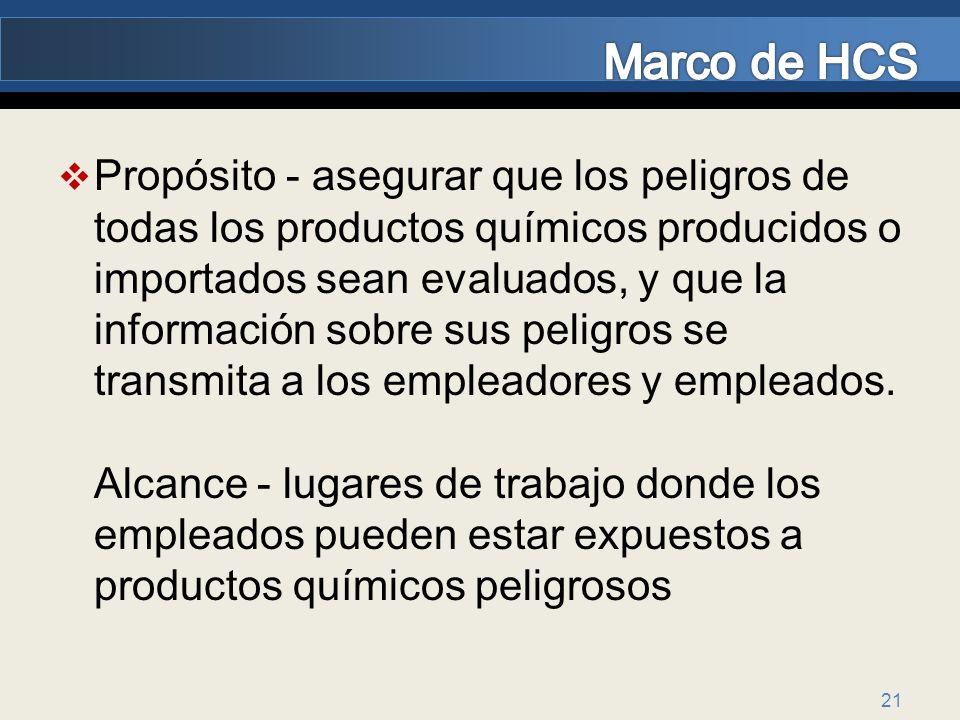 Marco de HCS