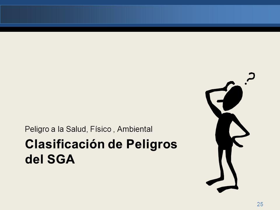 Clasificación de Peligros del SGA
