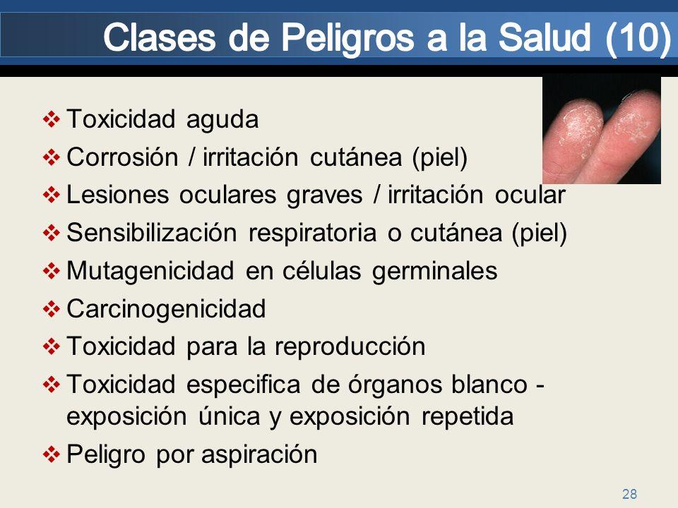 Clases de Peligros a la Salud (10)