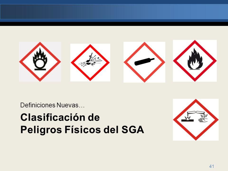 Clasificación de Peligros Físicos del SGA
