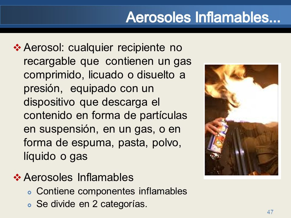 Aerosoles Inflamables...