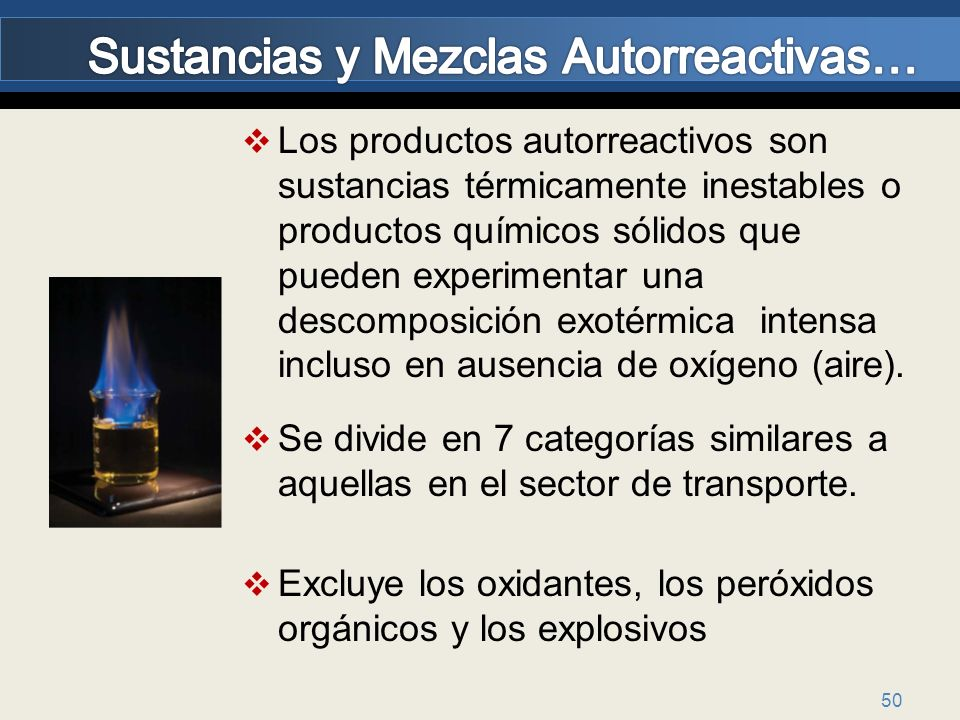 Sustancias y Mezclas Autorreactivas…