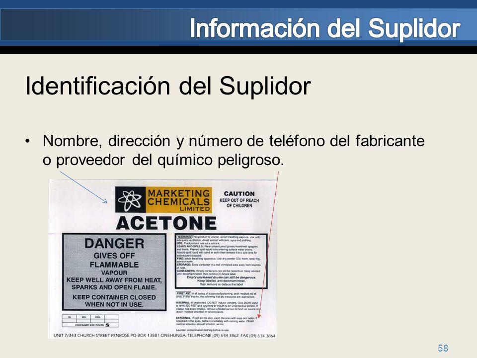 Información del Suplidor