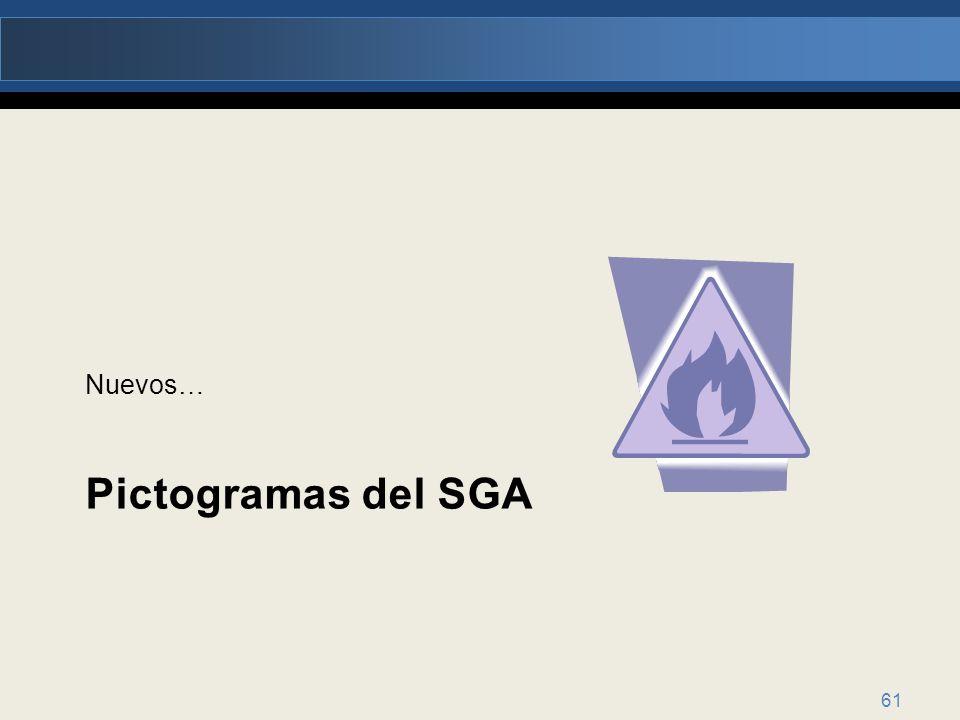 Nuevos… Pictogramas del SGA