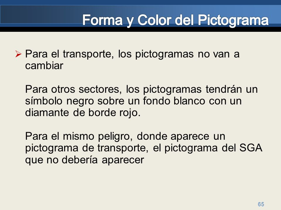 Forma y Color del Pictograma