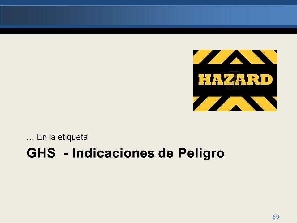 GHS - Indicaciones de Peligro