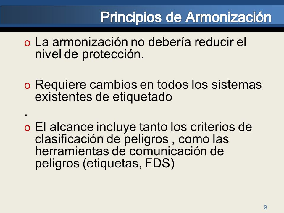 Principios de Armonización