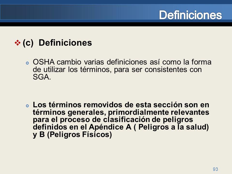 Definiciones (c) Definiciones