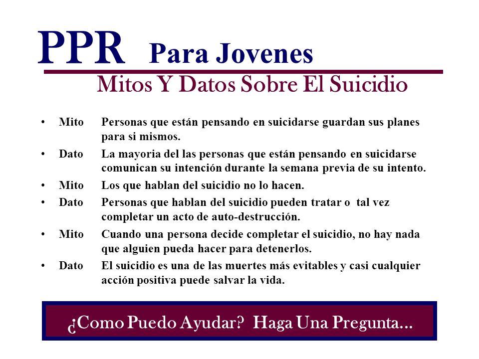 PPR Mitos Y Datos Sobre El Suicidio