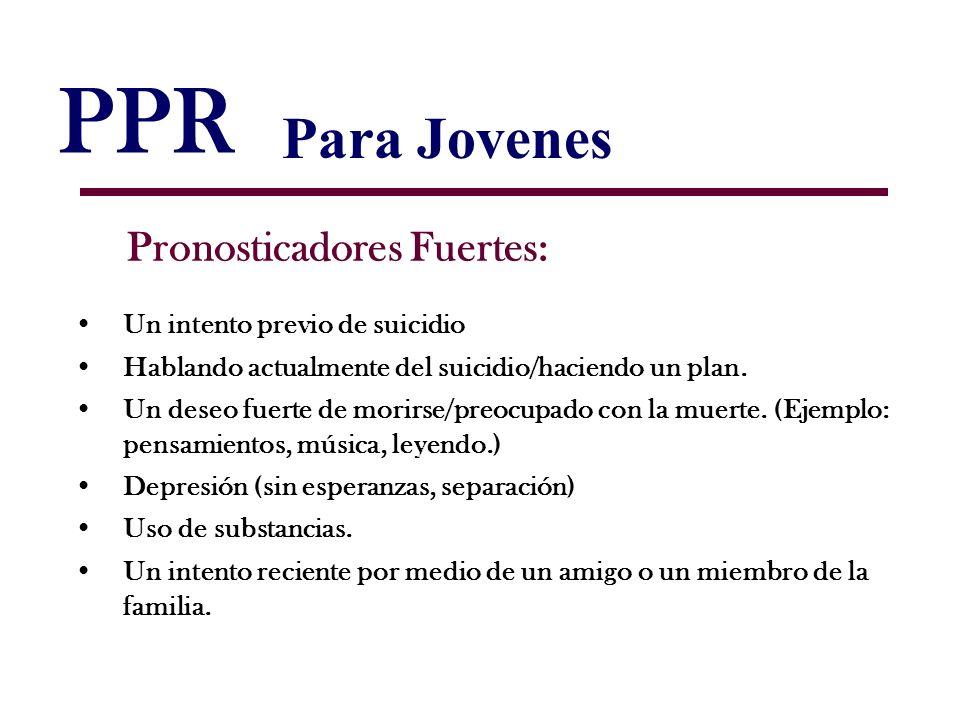 PPR Para Jovenes Pronosticadores Fuertes: