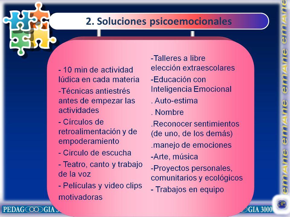 2. Soluciones psicoemocionales