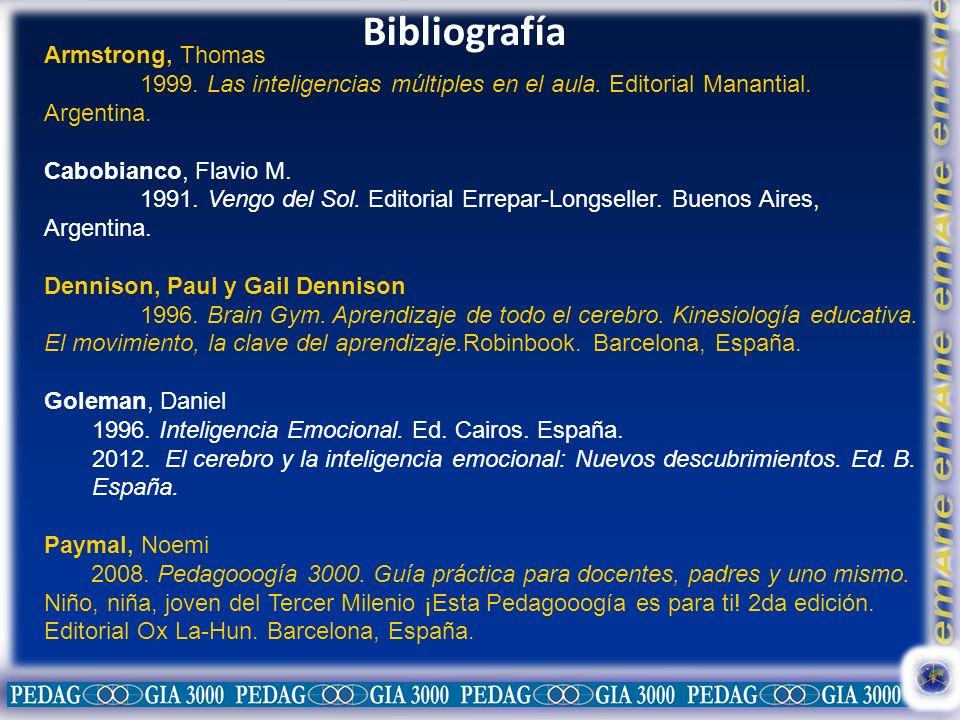 Bibliografía Armstrong, Thomas