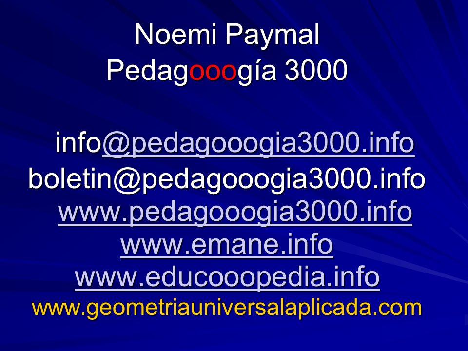 Noemi Paymal Pedagooogía 3000 info@pedagooogia3000.info