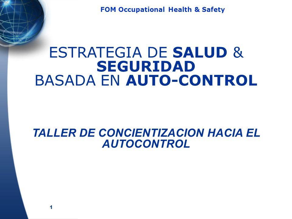 TALLER DE CONCIENTIZACION HACIA EL AUTOCONTROL