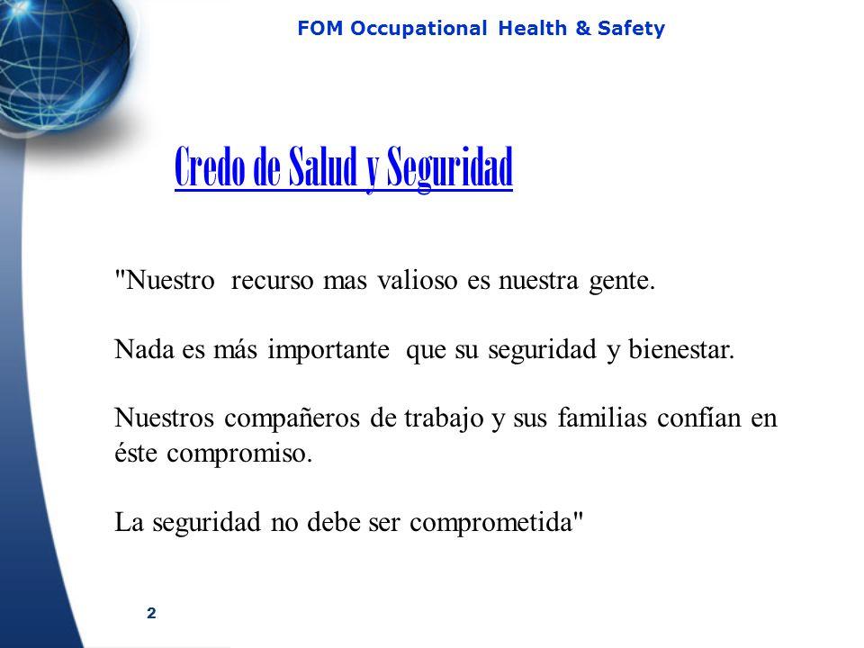 Credo de Salud y Seguridad