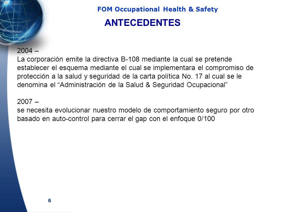 ANTECEDENTES 2004 –