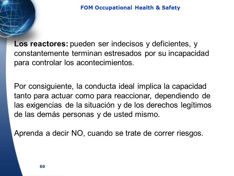 Los reactores: pueden ser indecisos y deficientes, y constantemente terminan estresados por su incapacidad para controlar los acontecimientos.