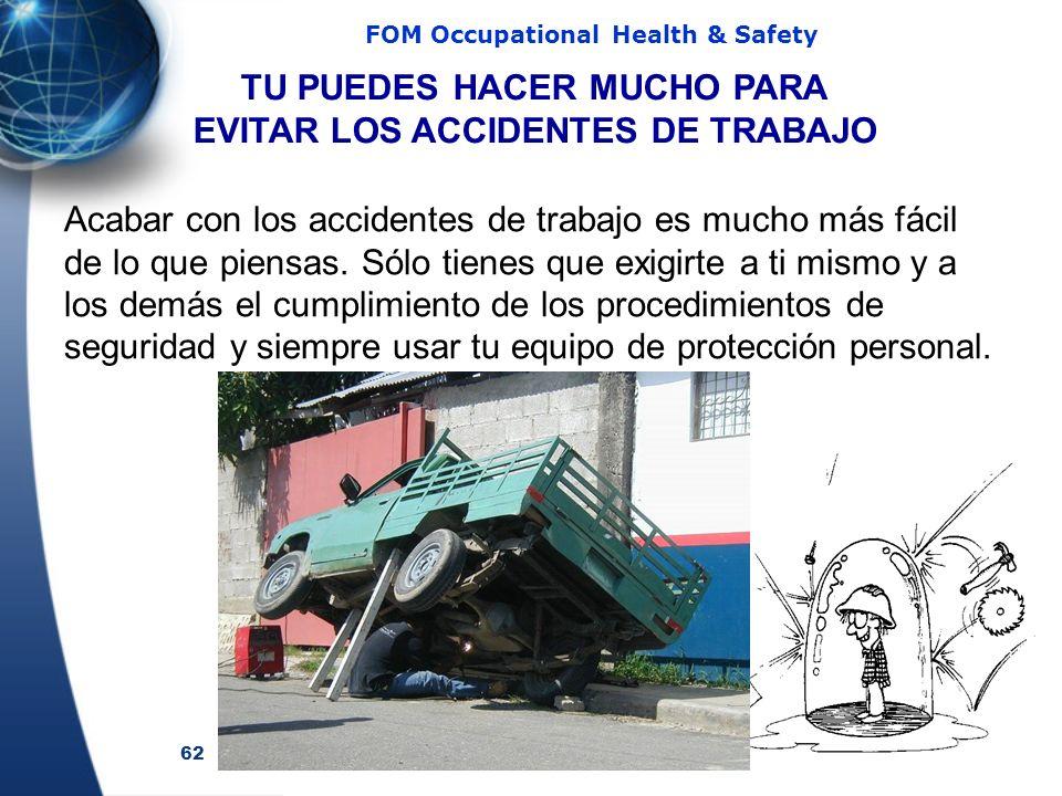 TU PUEDES HACER MUCHO PARA EVITAR LOS ACCIDENTES DE TRABAJO