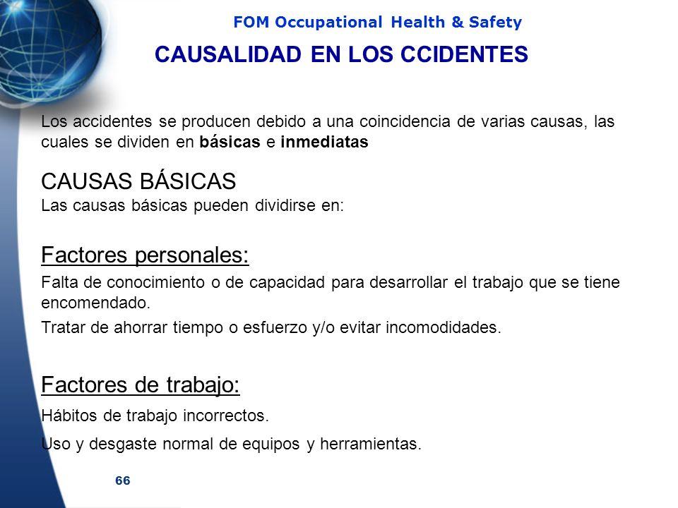 CAUSALIDAD EN LOS CCIDENTES