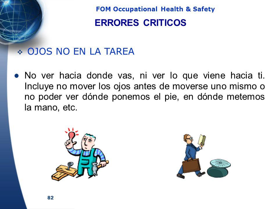 ERRORES CRITICOS OJOS NO EN LA TAREA.