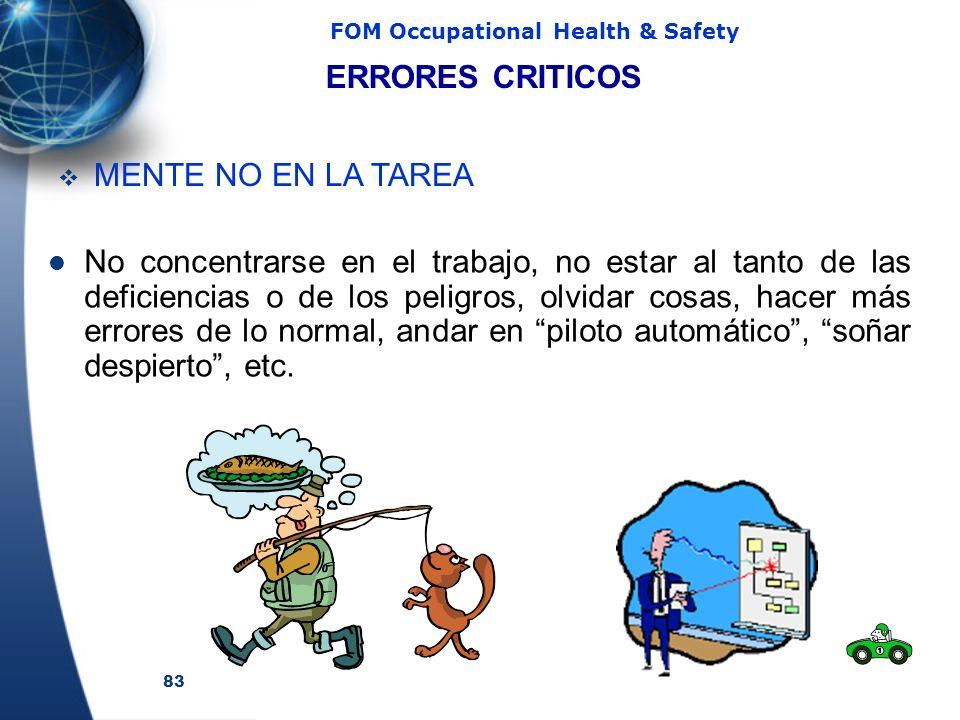 ERRORES CRITICOS MENTE NO EN LA TAREA.