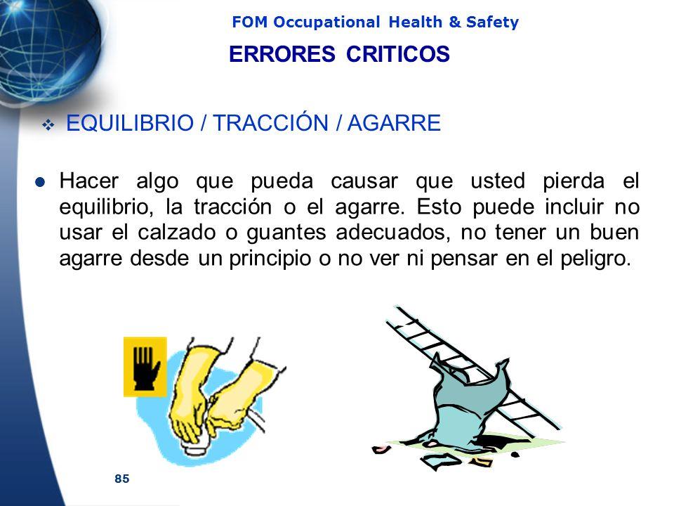 ERRORES CRITICOS EQUILIBRIO / TRACCIÓN / AGARRE.
