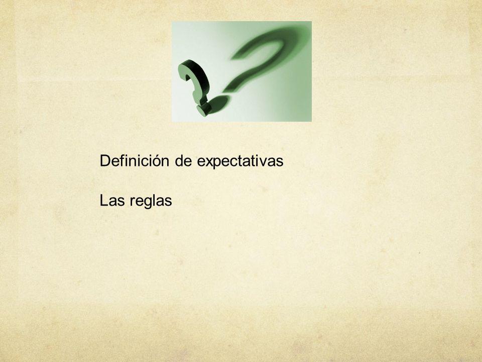 Definición de expectativas