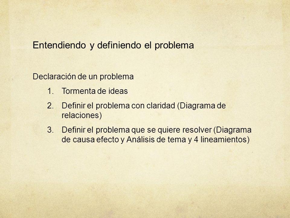 Entendiendo y definiendo el problema