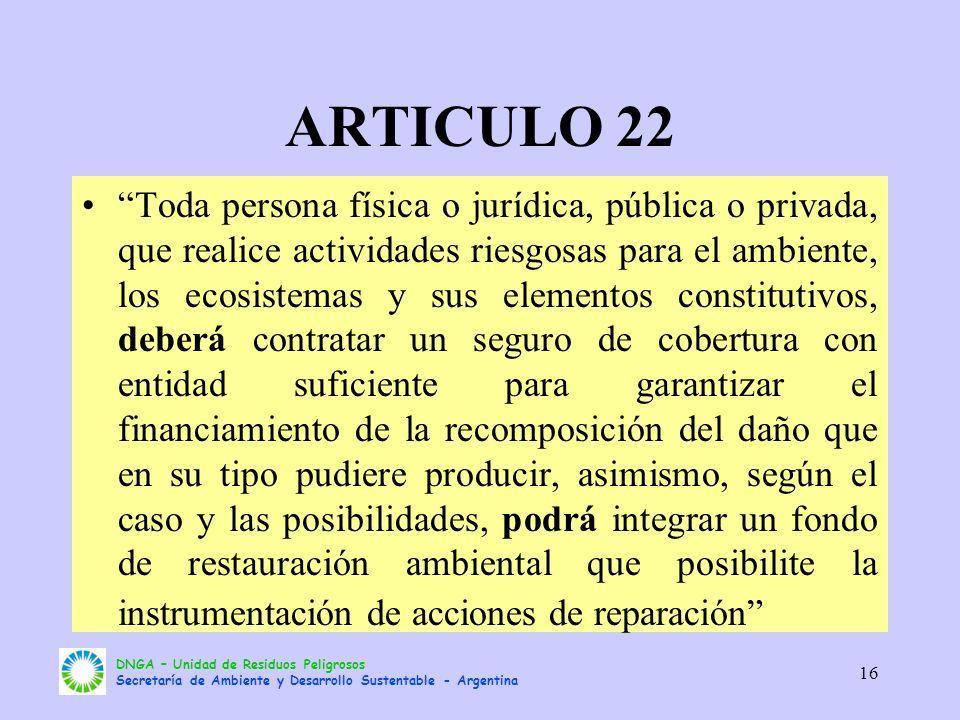 ARTICULO 22