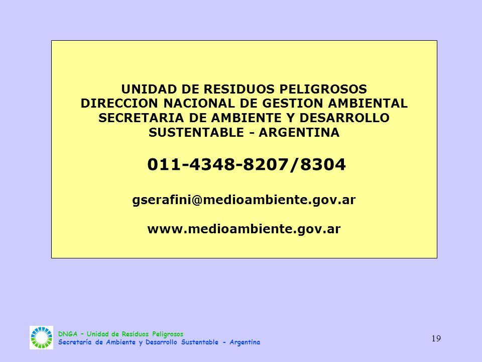 011-4348-8207/8304 UNIDAD DE RESIDUOS PELIGROSOS