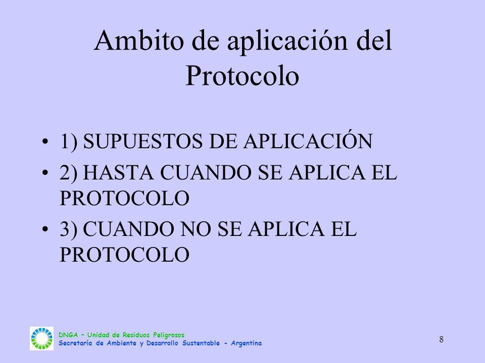 Ambito de aplicación del Protocolo