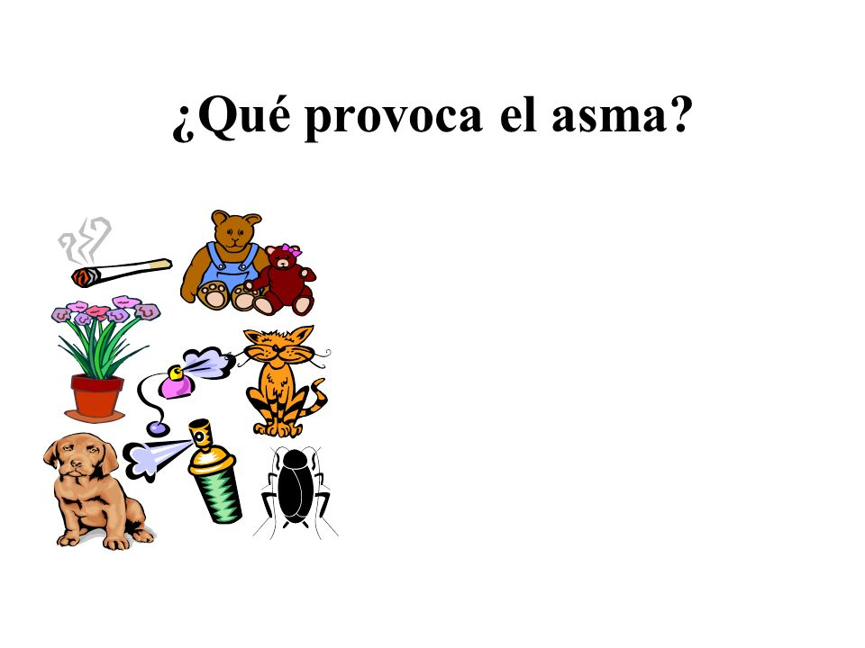 ¿Qué provoca el asma Talking Points: Asthma attacks are triggered by: