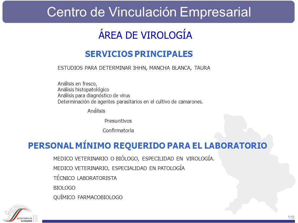 ÁREA DE VIROLOGÍA SERVICIOS PRINCIPALES