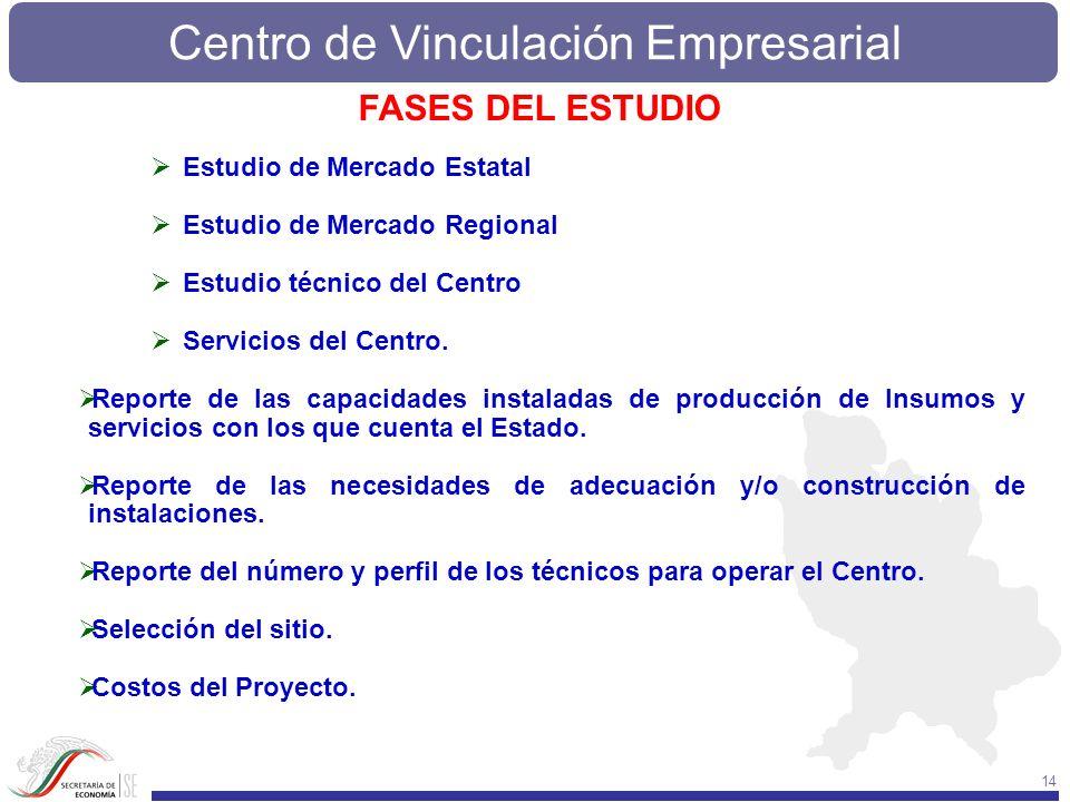 FASES DEL ESTUDIO Estudio de Mercado Estatal