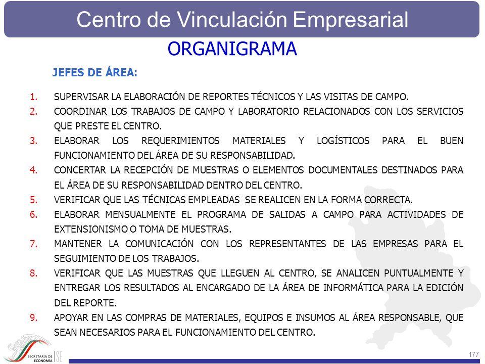 ORGANIGRAMA JEFES DE ÁREA: