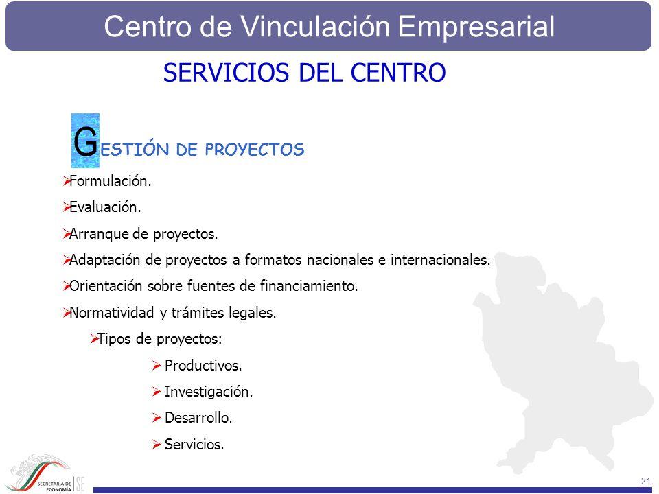 G SERVICIOS DEL CENTRO ESTIÓN DE PROYECTOS Formulación. Evaluación.
