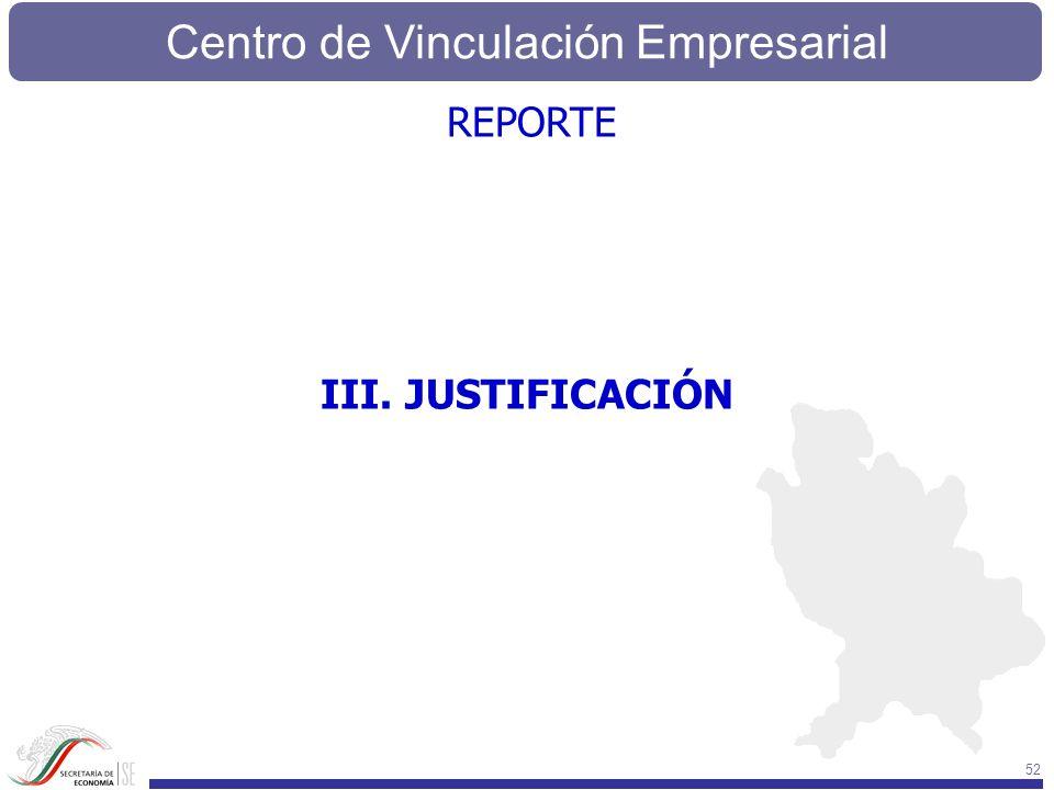 REPORTE III. JUSTIFICACIÓN