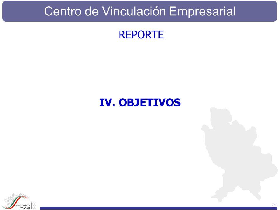 REPORTE IV. OBJETIVOS