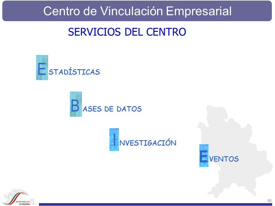 E B I E SERVICIOS DEL CENTRO STADÍSTICAS ASES DE DATOS NVESTIGACIÓN