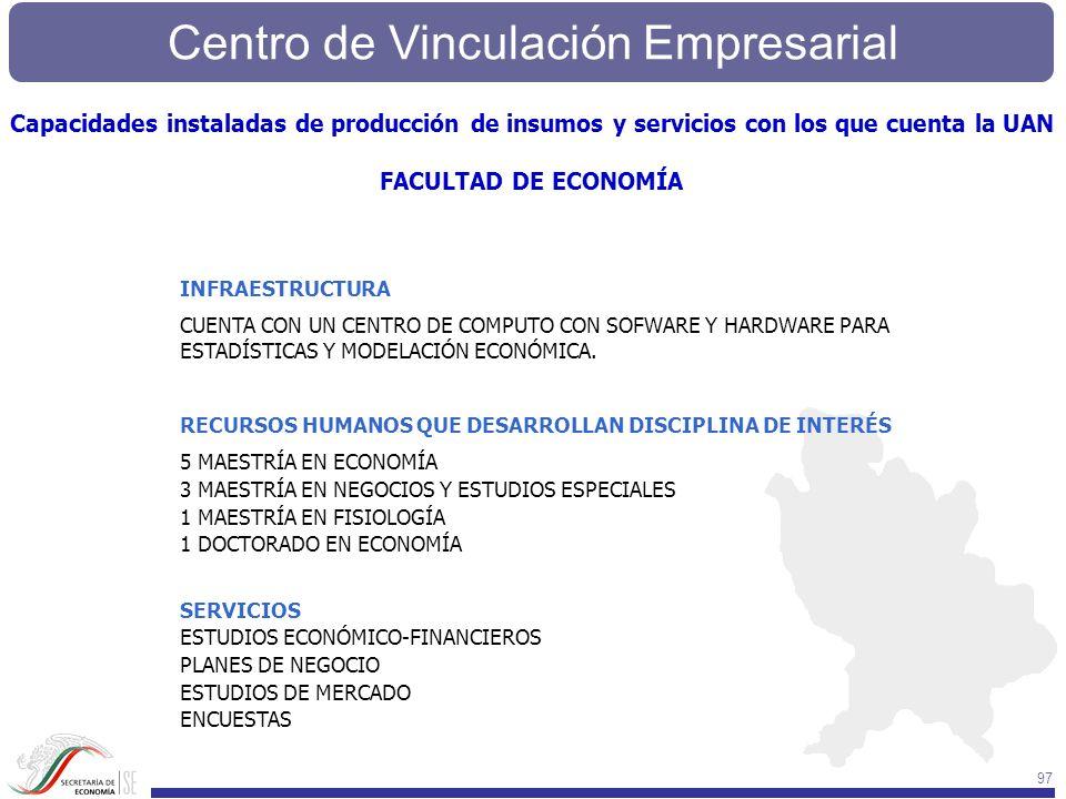 Capacidades instaladas de producción de insumos y servicios con los que cuenta la UAN