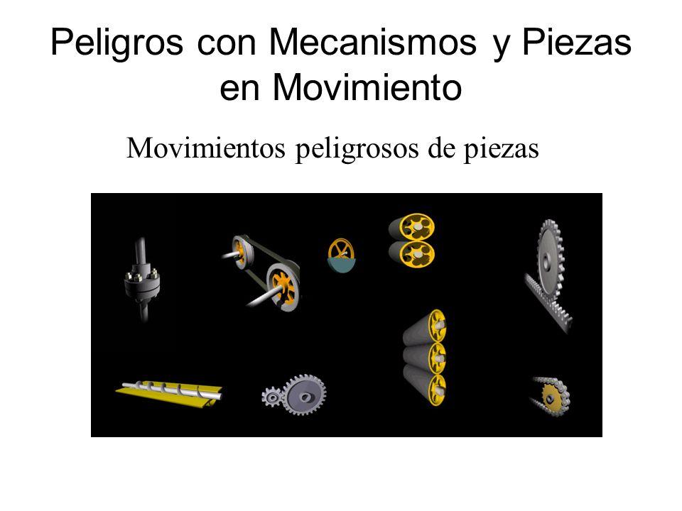 Peligros con Mecanismos y Piezas en Movimiento