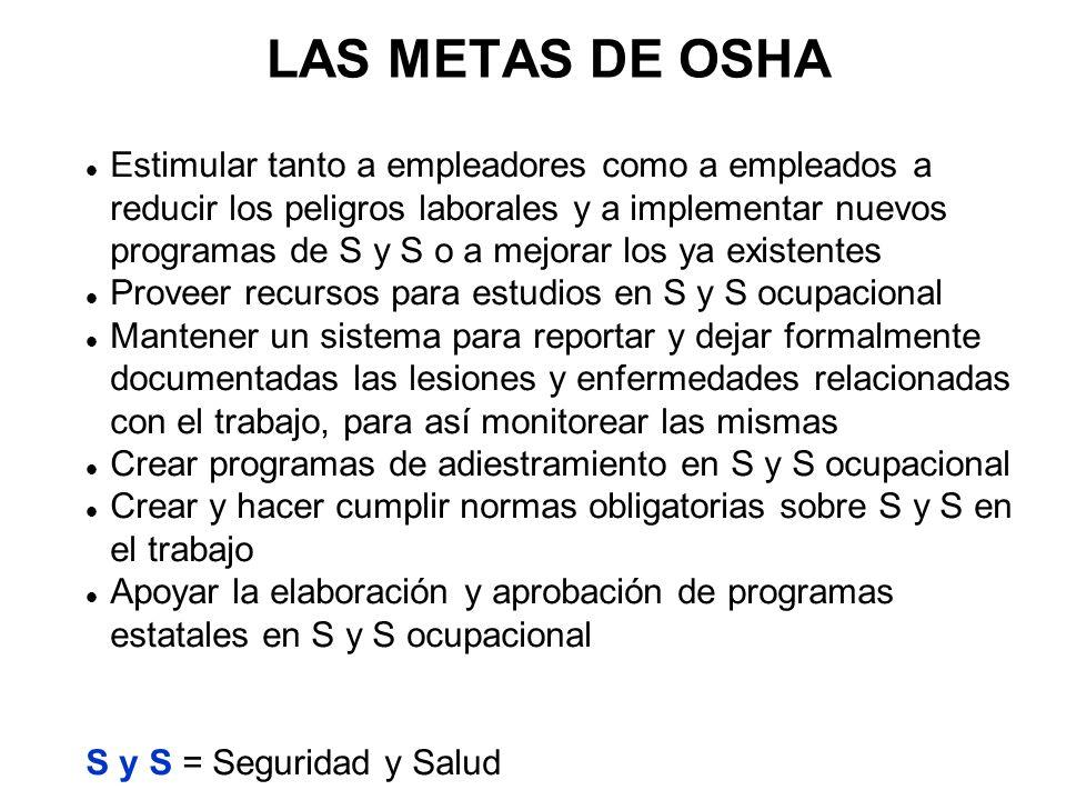 LAS METAS DE OSHA
